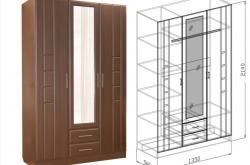 Шкаф 3х Палермо