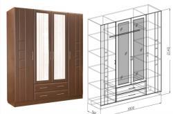 Шкаф 4х Палермо