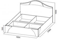 Кровать№2 универсальная 1,6 Лагуна 5