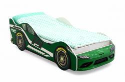 кровать-машинка Супра зеленая