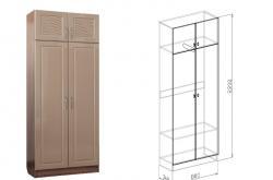 Шкаф 2 дверный Вега