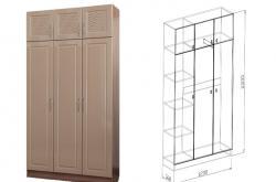 Шкаф 3 дверный Вега