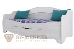 Кровать одинарная с ящиком Акварель 1